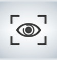 eye focus flat icon isolated on modern background vector image