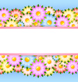 Flower card template vector image vector image