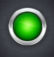 Glossy 3d green button vector image