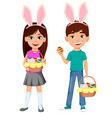 happy easter colorful for holiday vector image