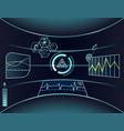 interface virtual reality vector image