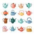 kettle for hot drinks colored flat decorative vector image vector image