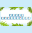 Keyboard with Christmas tree frame vector image