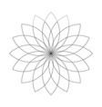 lotus plant symbol spa and wellness theme design vector image vector image