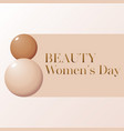 makeup banner whith drops of foundation beauty vector image vector image