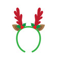 mask with reindeer antler vector image vector image