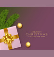 merry christmas realistic greeting with gifts vector image
