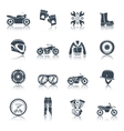 Motorcycle Icons Black Set vector image vector image
