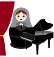 musician with a grand piano vector image vector image