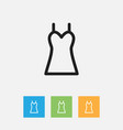 of shopping symbol on garment vector image
