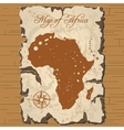 old parchament Map of Africa vector image vector image
