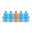people in meeting with leader symbol vector image vector image