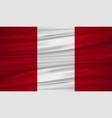 peru flag flag of peru blowig in the wind eps 10 vector image vector image