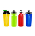 plastic shaker in on white background vector image vector image
