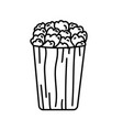 pop corn icon doodle hand drawn or black outline vector image