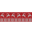 red christmas jumper vector image vector image