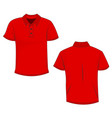 red polo template in front side and back views vector image vector image