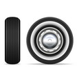 retro car wheels vector image