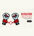 revolution concept homepage design vector image