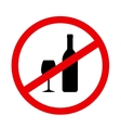 round sign stop alcohol vector image vector image