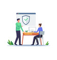 secure login and sign up concept vector image