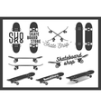 set of skateboard emblems labels badges vector image vector image