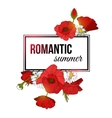 Shining romantic summer typographical background vector image vector image