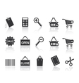 shopping e-commerce black icon set vector image vector image