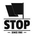 social protest stop logo simple black style vector image vector image