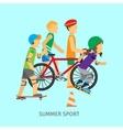 Summer sport Active way of Life Conceptual Banner vector image vector image