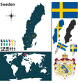 Sweden map vector image vector image