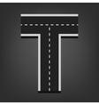 T letter Road font