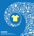 T-shirt Clothes sign symbol Nice set of beautiful vector image