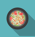 thai food som tam papaya salad vector image vector image