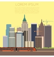 Train in city banner vector image vector image