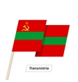 Transnistria Ribbon Waving Flag Isolated on White vector image vector image