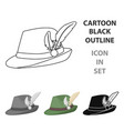 tyrolean hat icon in cartoon style isolated on vector image vector image