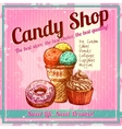 Vintage Candy Shop Poster vector image vector image