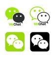 wechat logo symbol web icon comments color vector image