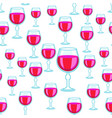 wineglass seamless pattern vector image vector image