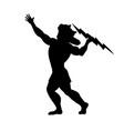 zeus jupiter god silhouette ancient mythology vector image vector image