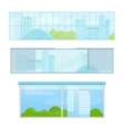 Set of Windows In Flat Style vector image
