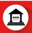 silhouette building bank card credit debit icon vector image