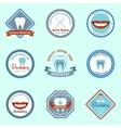Dental emblems set vector image