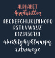 white handwritten latin calligraphy brush script vector image