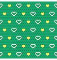 Polka Dots Hearts Pattern vector image