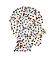 a group of people in a shape of head icon vector image vector image