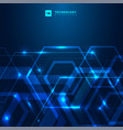 abstract geometric hexagon shape with glowing vector image vector image