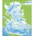 Aegean Sea map vector image