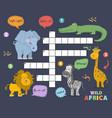 african animals crossword vector image vector image